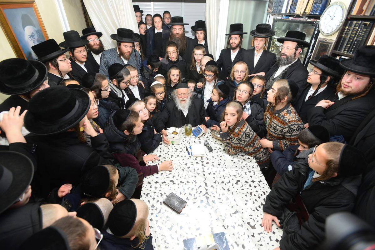 "Wednesday Chanukah at the Homes of R' Shimon Galai and at the Mozhitzer Rebbe Shlit""a"